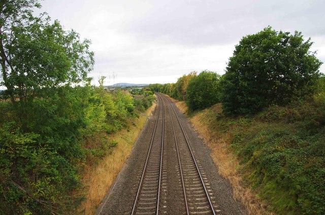 Wolverhampton to Shrewsbury railway line near Donington