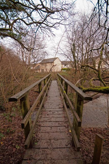 A bridge over Coney Gut near Primrose Avenue