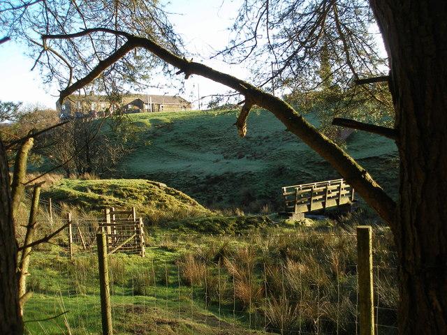 Footbridge at Dunnockshaw Farm