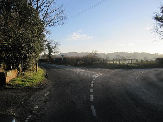 Hough Lane/Heyes Lane junction