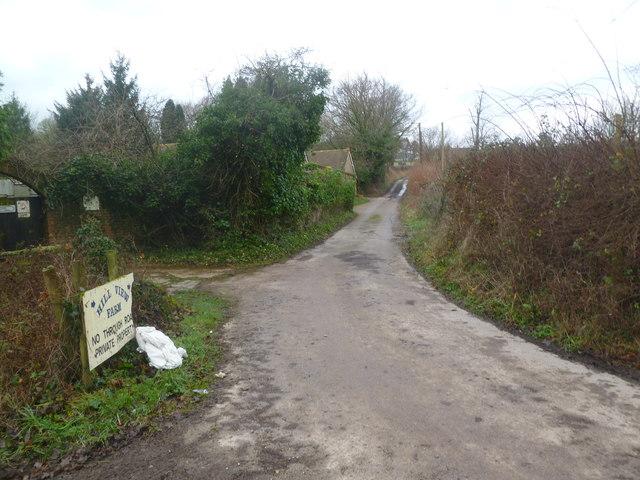 Corfe Mullen, farm entrance