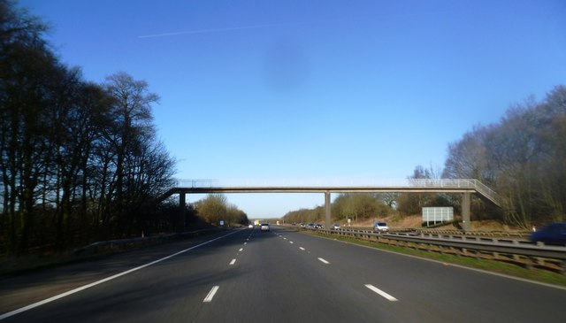 Footbridge over the M61
