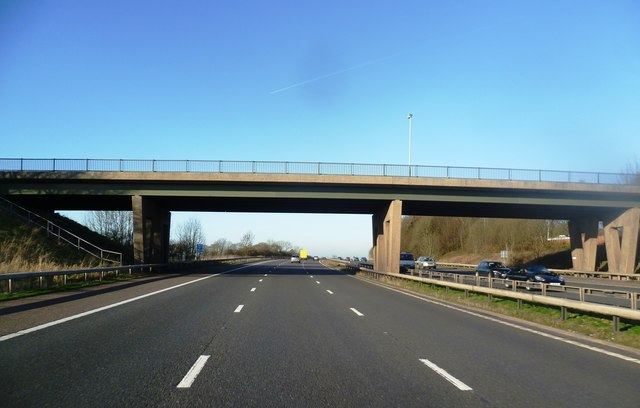 Bridge over the M61 at Hallsworth Fold Farm