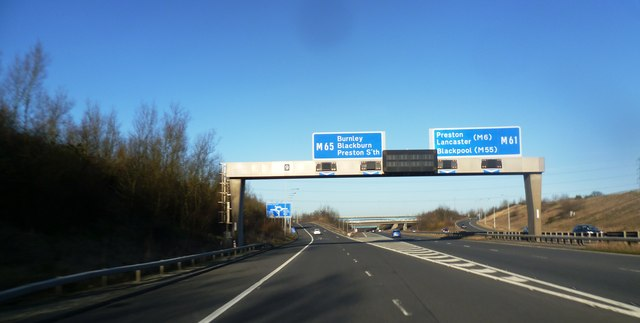 Junction 9 on the M61