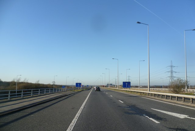 The M65 where it crosses the M6