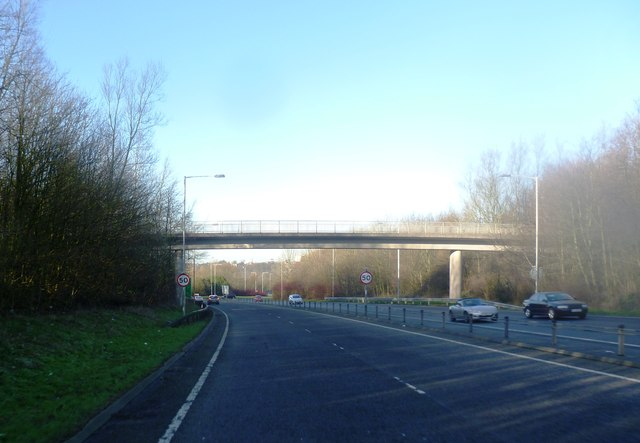 Bridge over the A6 London Way