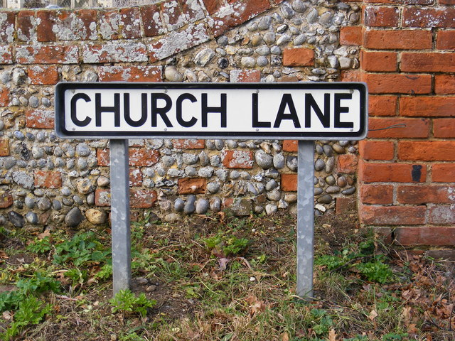 Church Lane sign
