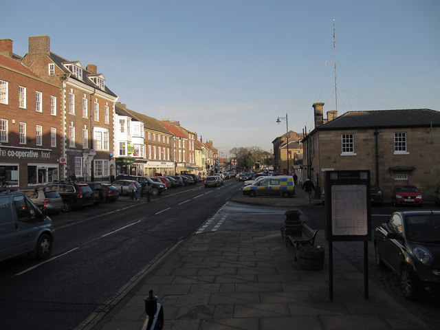 Stokesley High Street in January