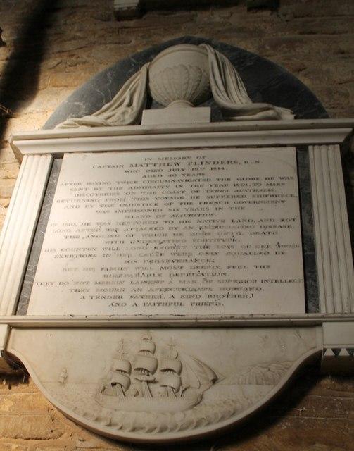 Memorial to Capt Matthew Flinders