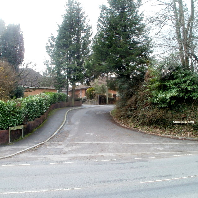 Northern end of White Hart Drive, Machen