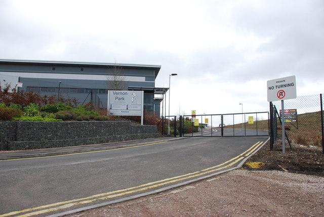 Entrance to Vernon Park off the A460