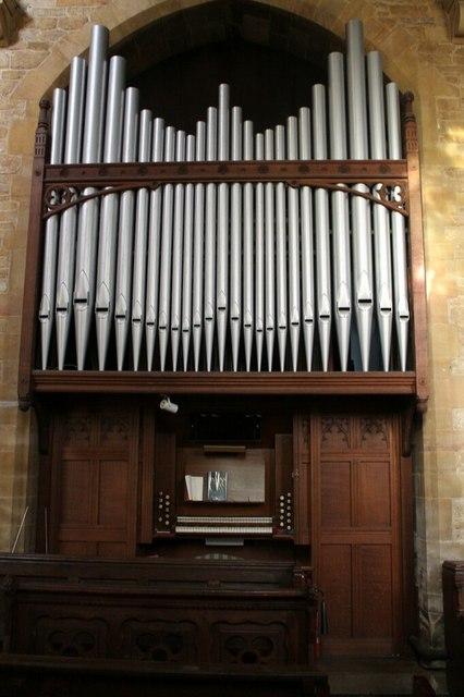 Organ in Donington Church