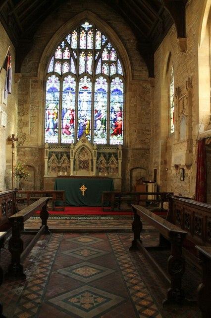 Chancel, St Mary & Holy Rood church, Donington