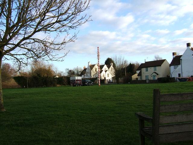 Maypole on Iron Acton village green