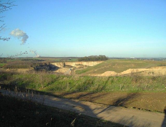 Farm track and quarry boundary