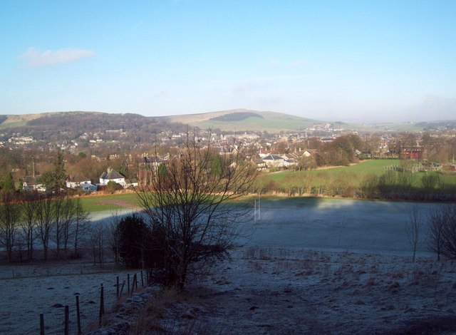 Overlooking Buxton from the edge of the High Plantation