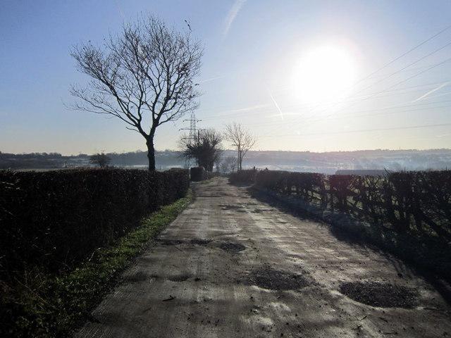 Mill Lane towards Corn Mill Farm