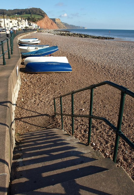 Steps to the beach, Sidmouth