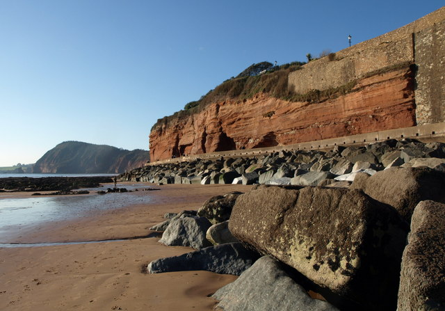 Cliffs and beach, Sidmouth
