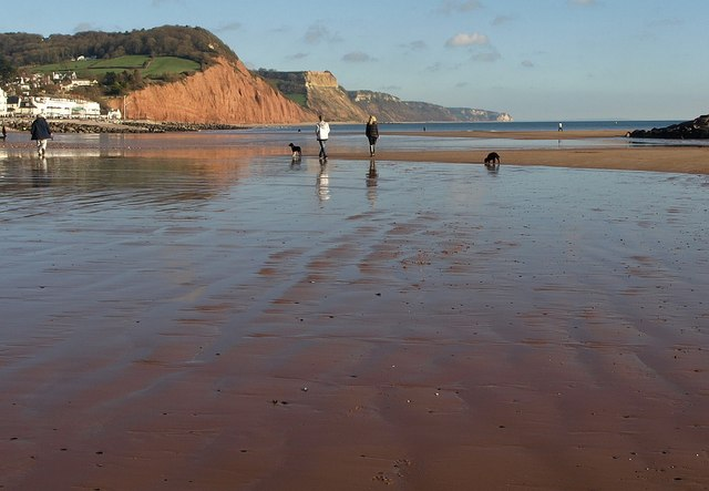 On the beach, Sidmouth