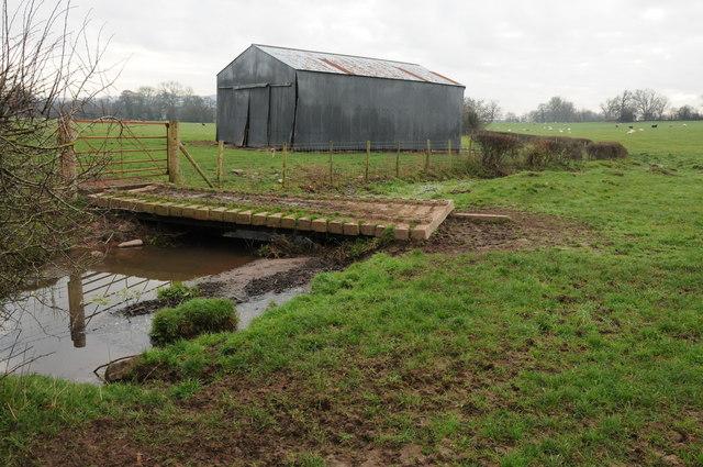 Barn and brook