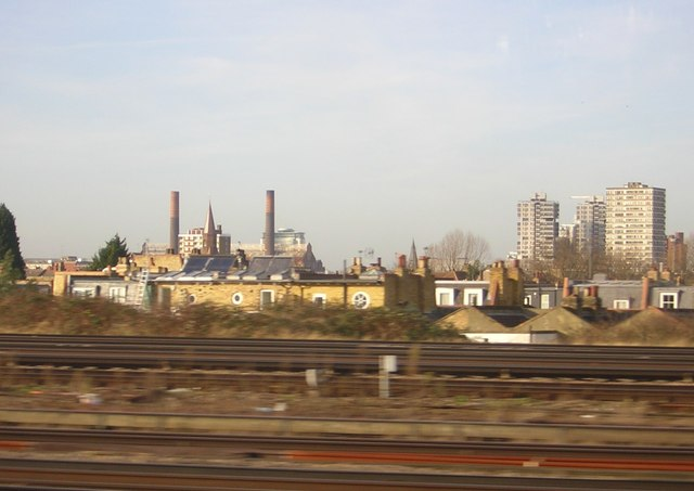 Battersea from the train