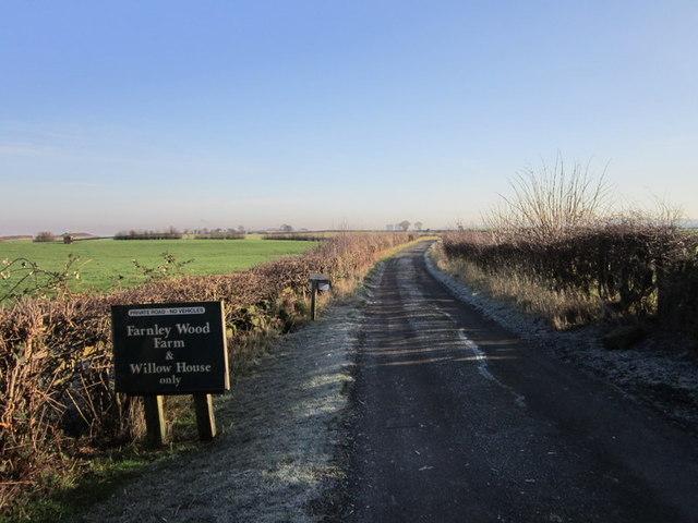 A bridleway towards Farnley Wood Farm