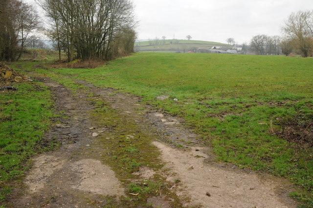 Farmland access track