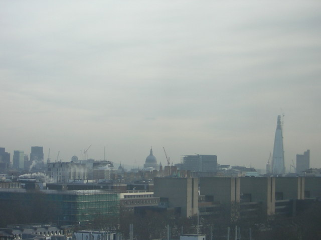 London skyline from Euston Road