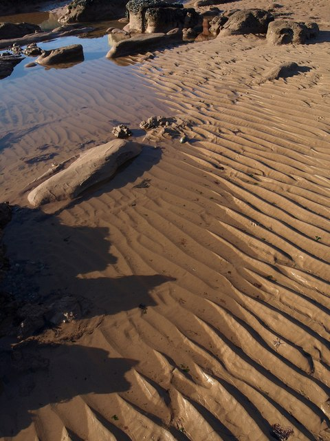Ripples on the beach, Sidmouth
