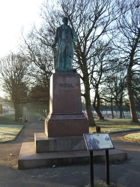 Statue of Robert Peel, Hyde Park, Leeds