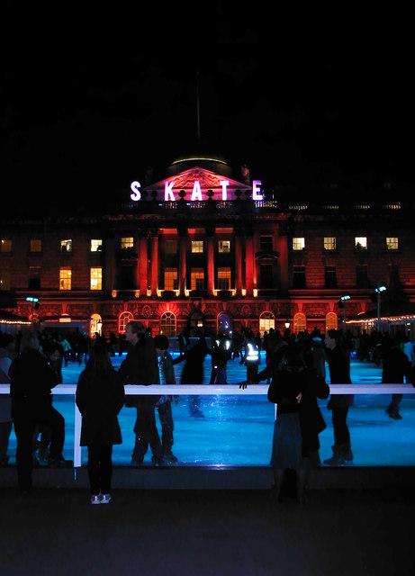 Seasonal ice rink, Somerset House