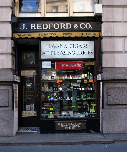 Cigar shop, Threadneedle Street, City of London