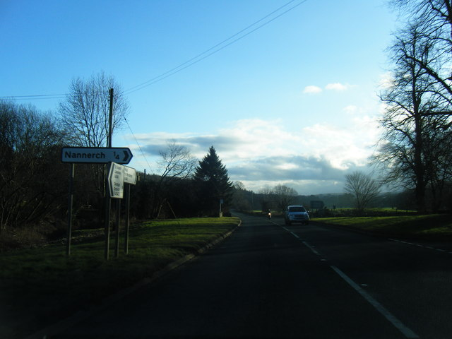 A541 south of Nannerch
