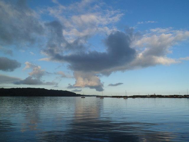 Clouds brewing over Beaumaris as seen from Bangor