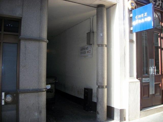 Andrews Crosse, Chancery Lane, London
