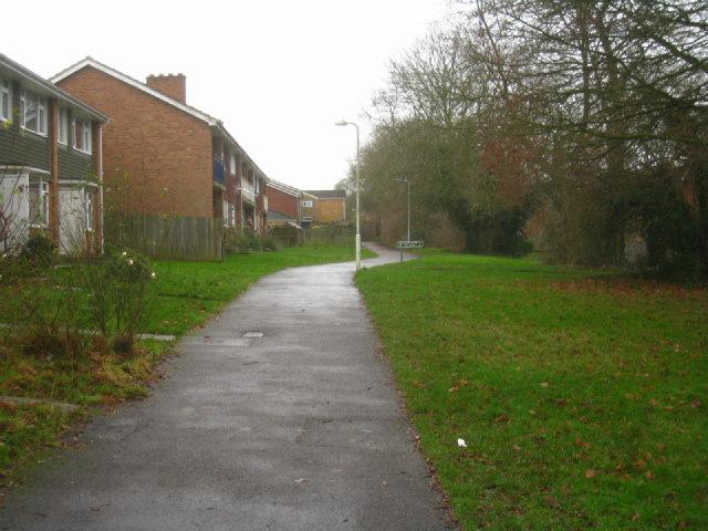 Path on Brighton Hill estate