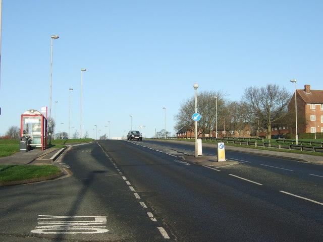 King Lane heading north