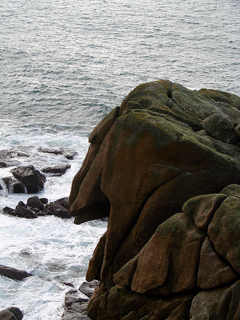 Coastal rocks viewed from the South West Coastal Path