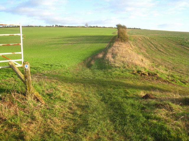 Wayfarer's Walk crossing Stubbington Down