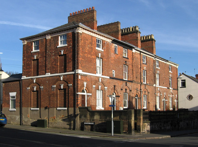 Derby - houses at junction of Arthur and Edward Streets