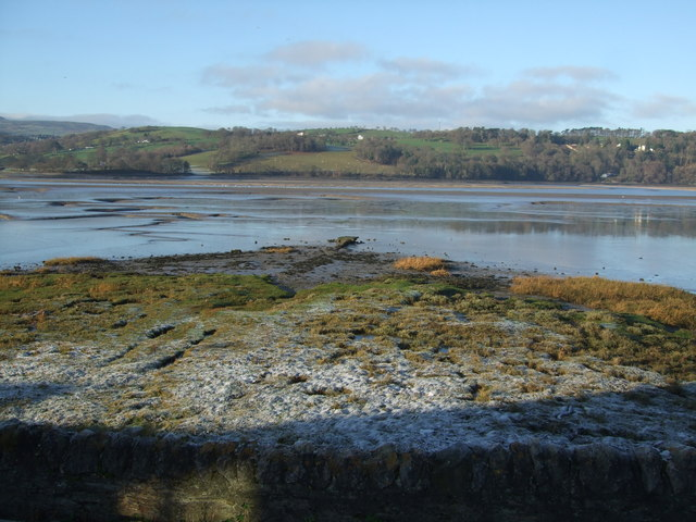 Frosted foreshore Glan Conwy