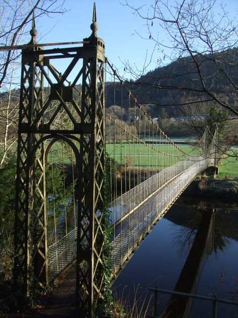 The suspension bridge at  Betws y Coed