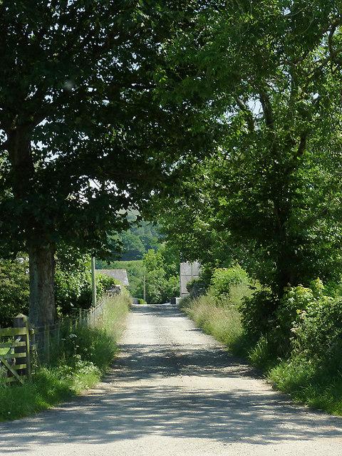 Farm road south-west of Tregaron, Ceredigion