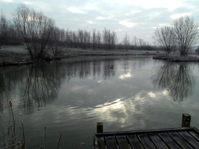 A  frosty day at Ackton pond