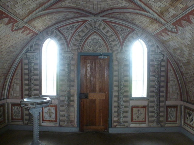 Lamb Holm: Italian Chapel door from inside