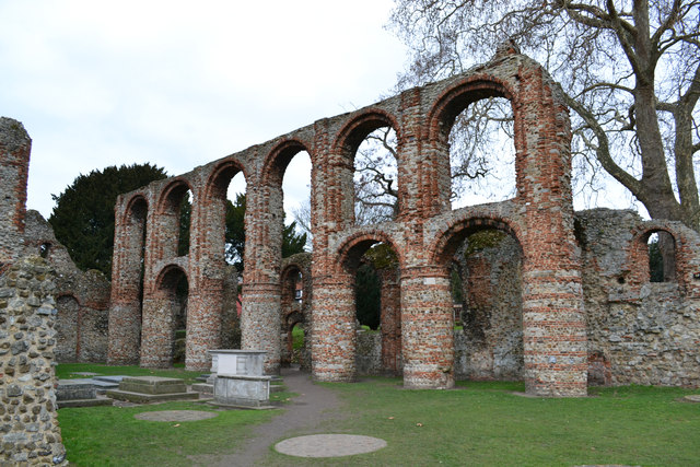 The Priory Remains of St Julian and St Botolph, Colchester, Essex