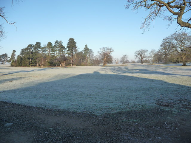 Frosty ridge and furrow in Onslow Park