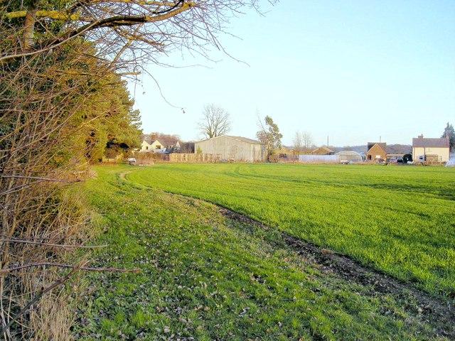 Footpath through fields near Shenstone Court