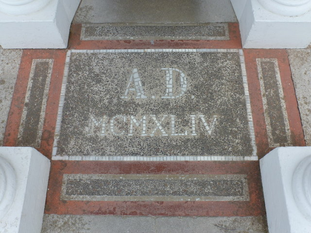 Lamb Holm: Italian Chapel doorway mosaic